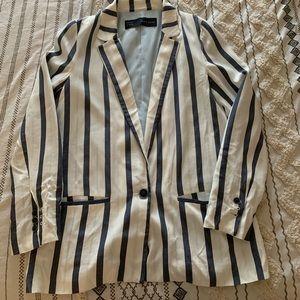 Zara Striped Blazer